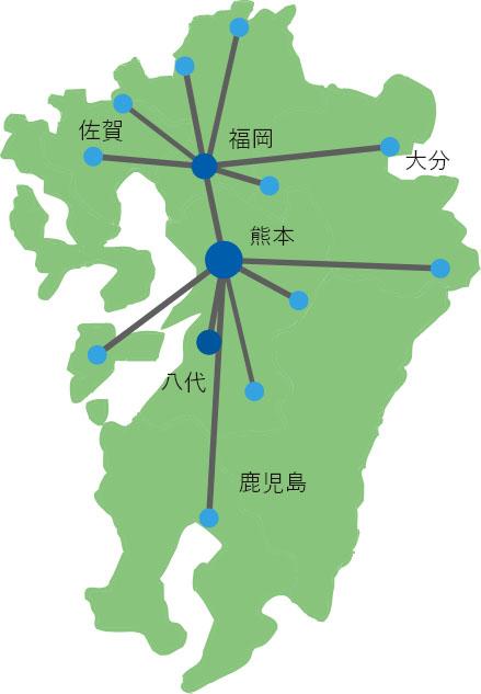 サントップ運輸 配送網